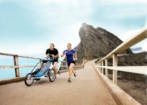 Jogger Kinderwagen zum Laufen Thule CX1 mit Joggern
