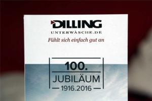 100 Jahre Dilling Unterwäsche Jubiläum
