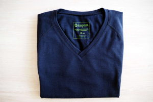 Dunkel blaues Merino Shirt von Kaipara Sportswear im Test