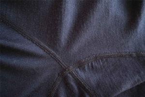 Nahaufnahme der Flachnaht meines Merino Shirts von Kaipara