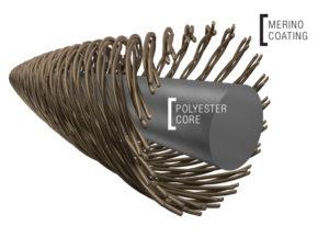 Merinowolle mit Kunstfaser kombiniert