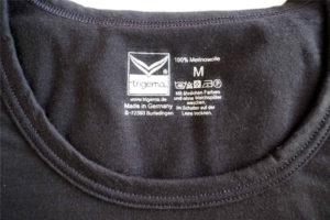 Trigema Merino Sport Shirt Ausschnitt