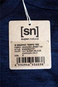 super.natural Merino Shirt Test - Etikett Details