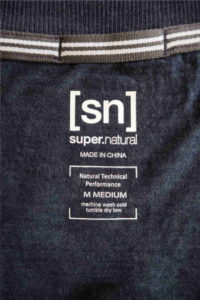 super.natural Merino Shirt Test - Naht Abdeckung