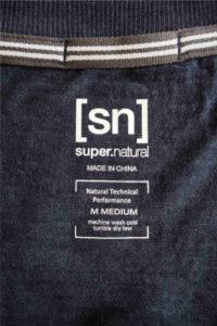 super.natural Merino Shirt Test - Naht Abdeckung