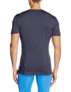Bergans Soleie Tee Merino Shirt dunkel blau im Test von hinten