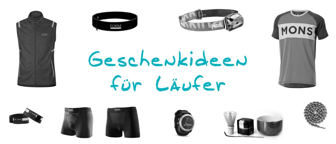 Geschenke für Läufer, mit sinnvollen Geschenken wie Stirnlampe, Schnürsenkel oder Sportunterwäsche