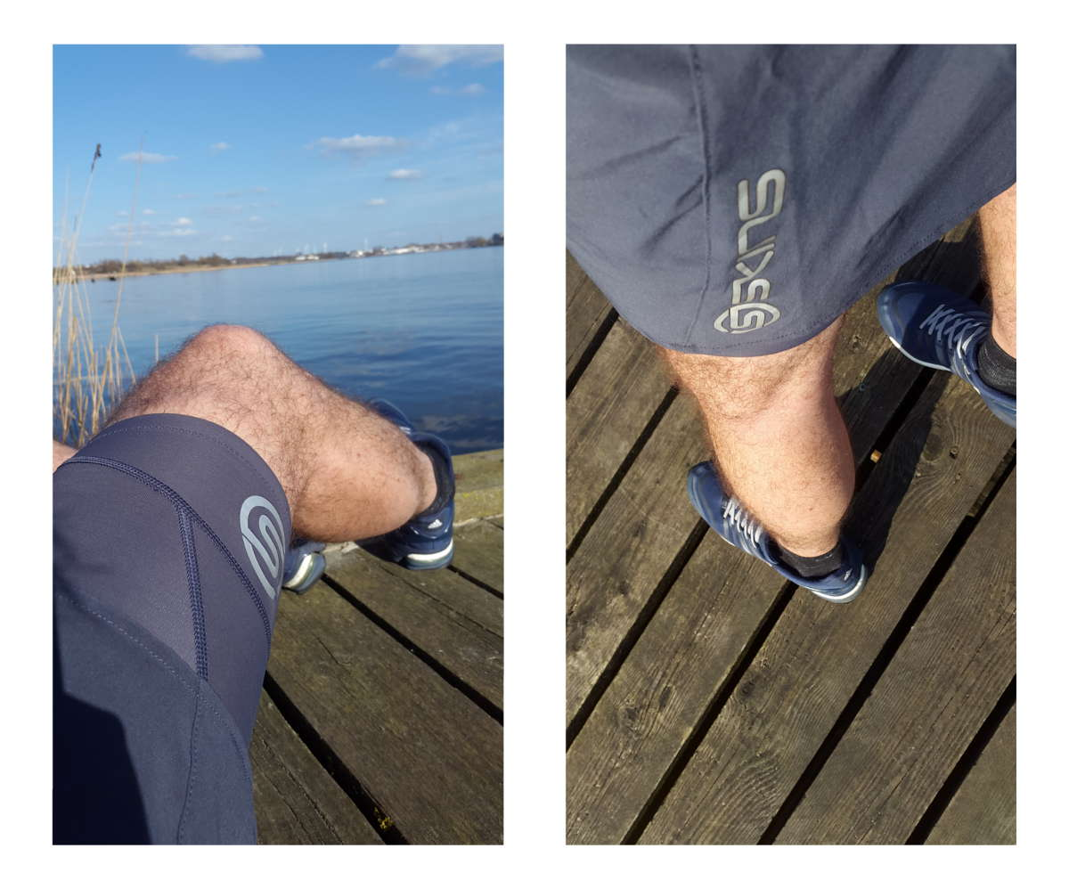 Laufshort von SKINS und Pause am See