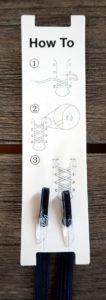 Anleitung zum Einfädeln der leazy Schnürsenkel