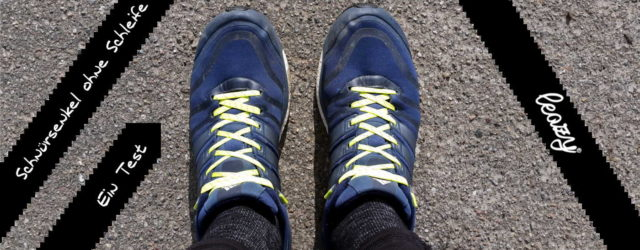 leazy Schnürsenkel Test der elastischen Schnürsenkel ohne Schleife