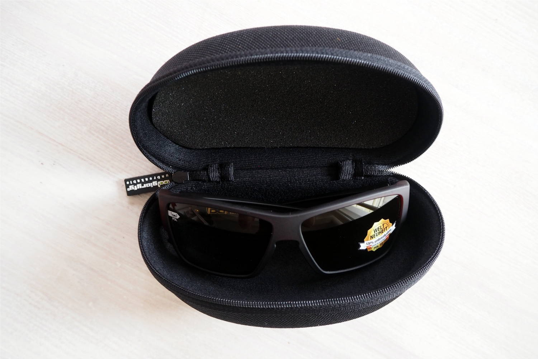 Schwarze Textil Schutzhülle für Sonnenbrillen mit gloryfy Sportbrille G14