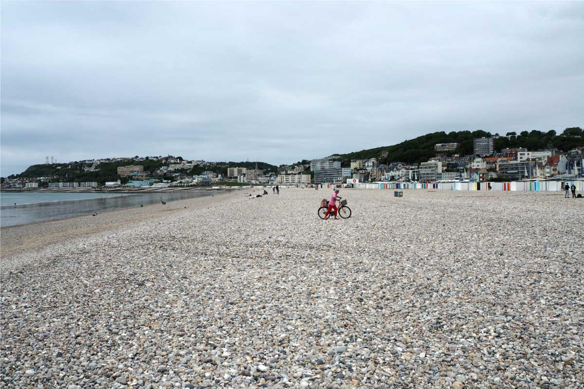 Steiniger Strand von Le Havre