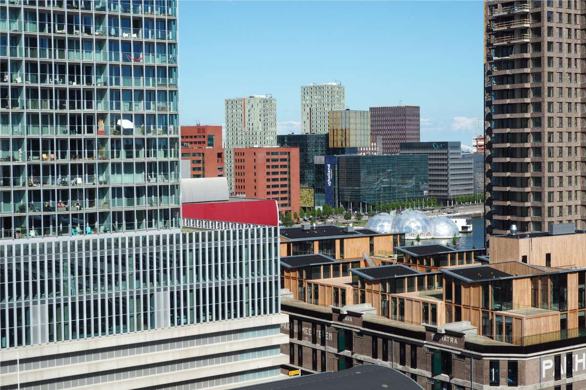Rotterdams typische Architektur und Hochhäuser