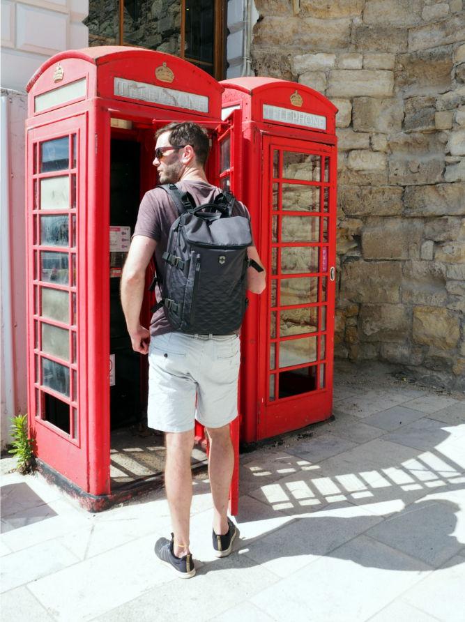 Englische Telefonzelle rot