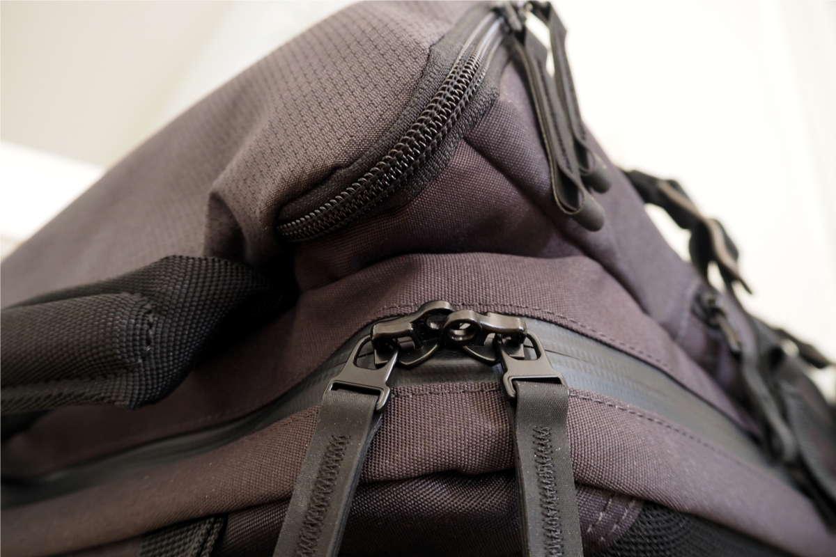 Abschließbarer Reißverschluss am Rucksack