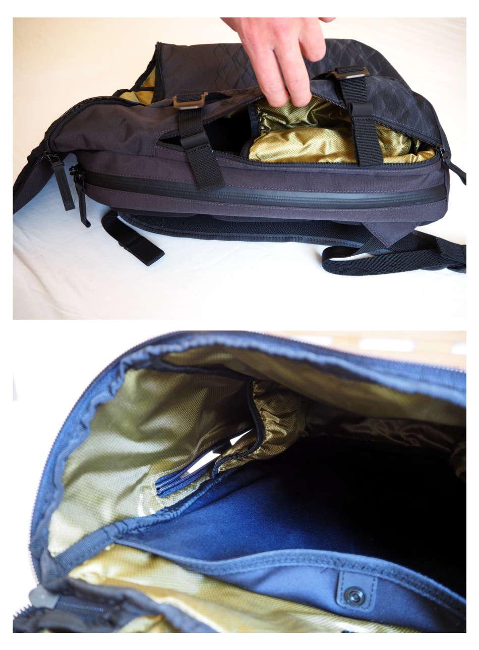 Praktische Tasche für Trinkflaschen, die man von außen leicht entnehmen kann