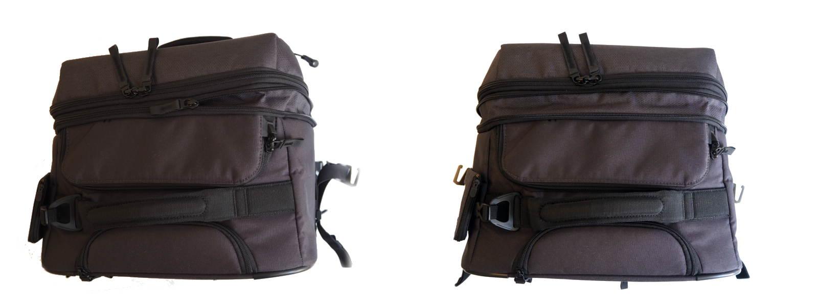 Reisetasche lässt sich über einen Reißverschluss vergrößern