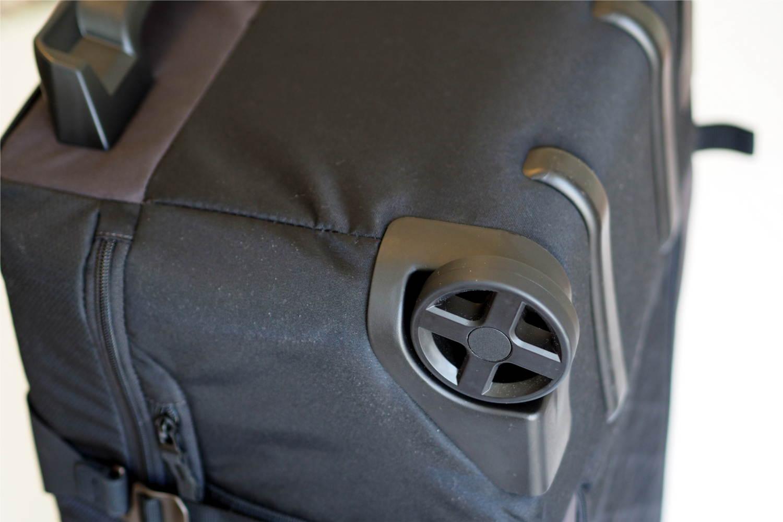 Rollen der Reisetasche