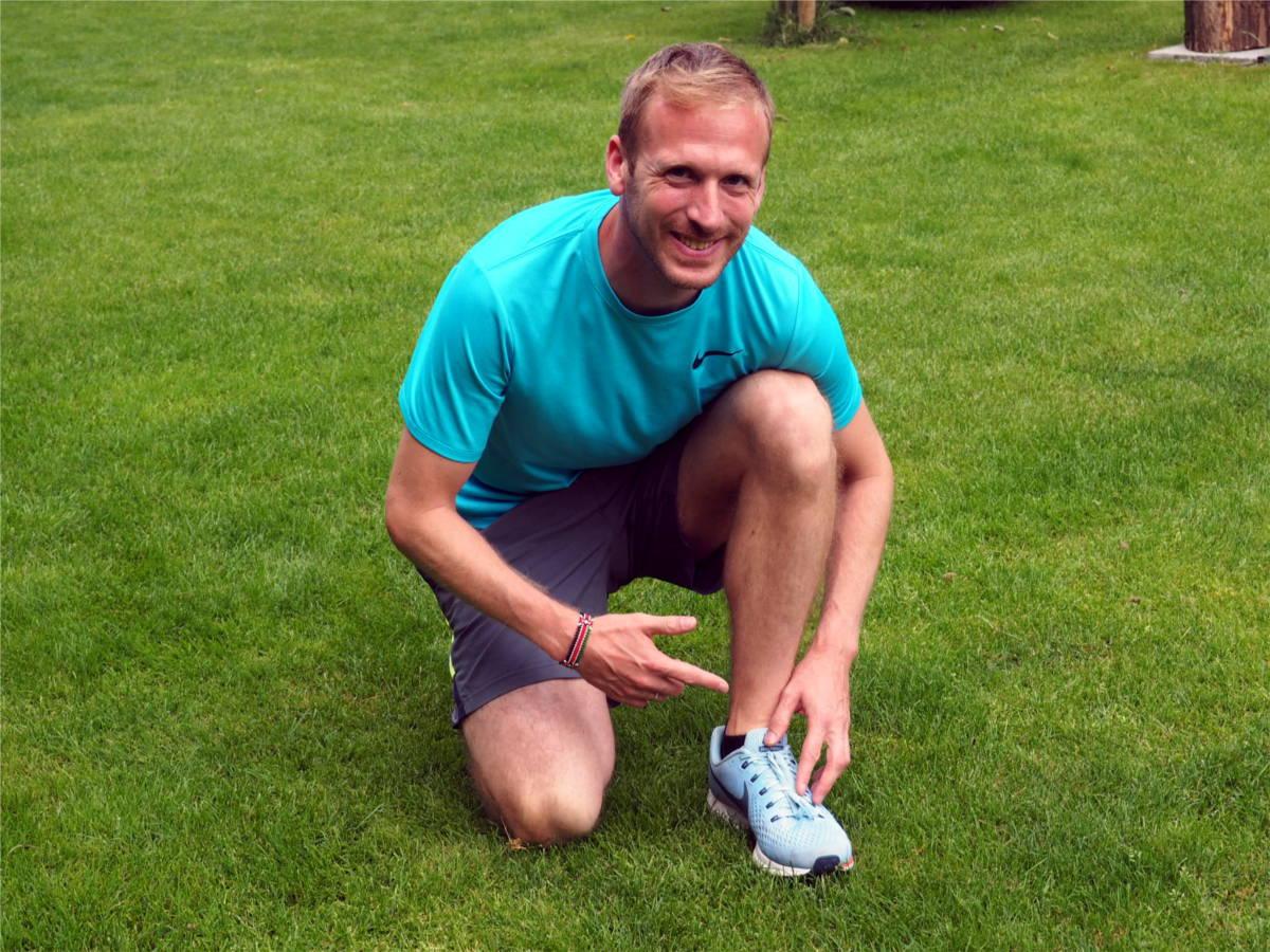 Laufprofi Jan Fitschen verrät, wie er seine Nike Pegasus Laufschuhe bindet