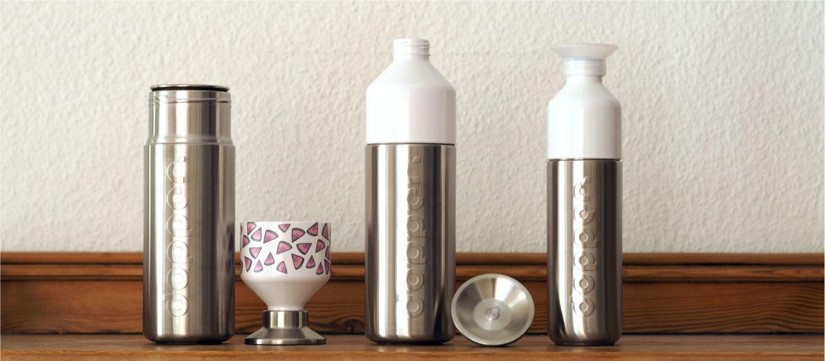 test dopper trinkflasche aus edelstahl der jogger. Black Bedroom Furniture Sets. Home Design Ideas