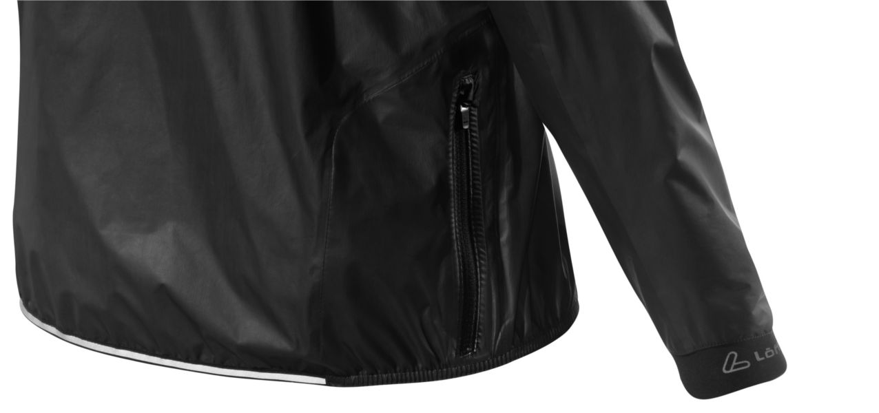 Laufjacke mit Reißverschlusstasche am Rücken