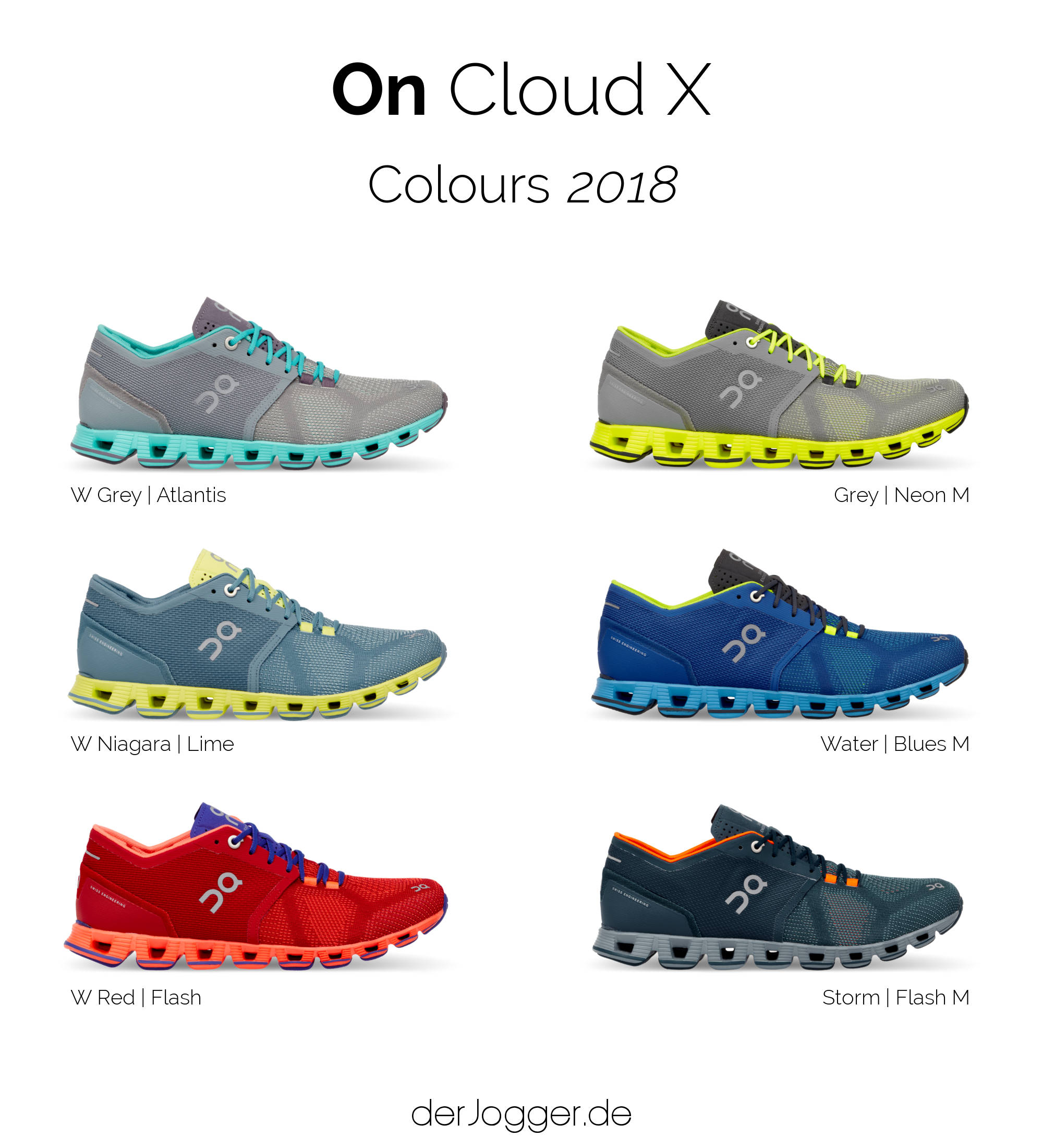 On Cloud X Damen Laufschuh red flash