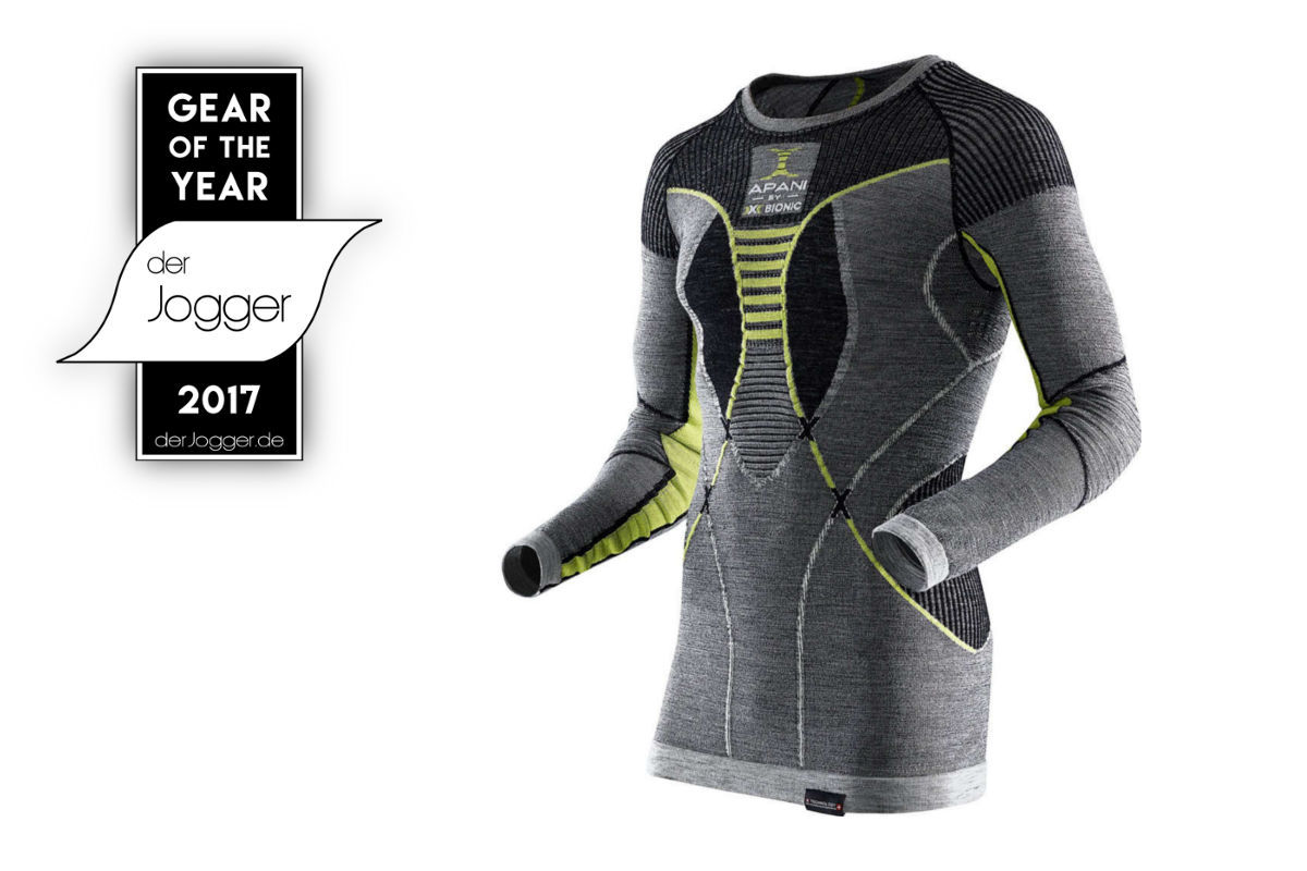 Testsieger Laufshirt Apani by X-Bionic Fastflow aus Merinowolle