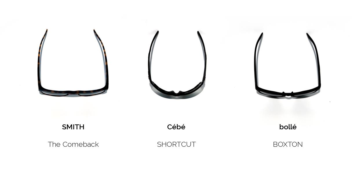 Sonnenbrillen zum Laufen für verschiedene Kopfformen